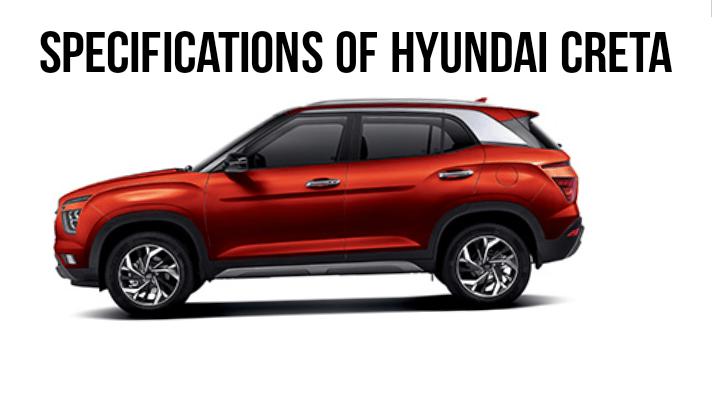 Specification of Hyundai Creta Car