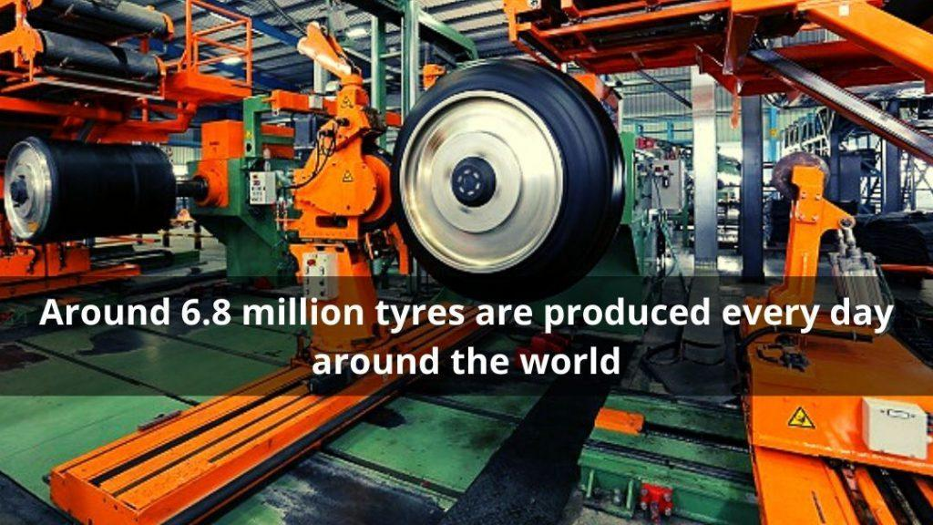 Tyres produced per day