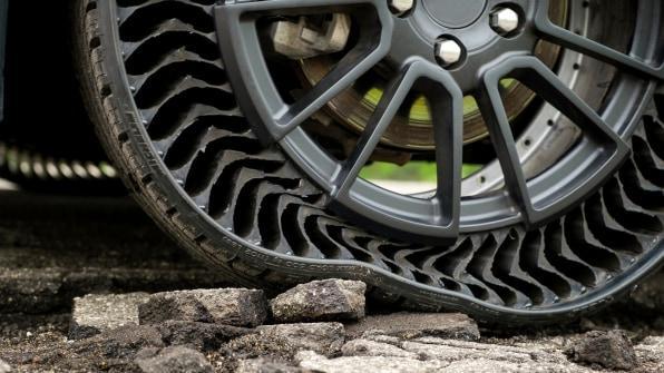 Tyres that will never flatten